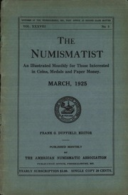 The Numismatist, March 1925