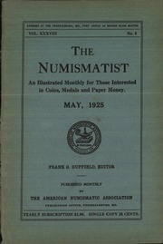 The Numismatist, May 1925