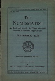 The Numismatist, September 1925