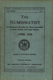 The Numismatist, April 1926