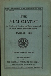 The Numismatist, March 1926