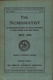 The Numismatist, May 1926