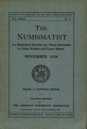 The Numismatist, November 1926