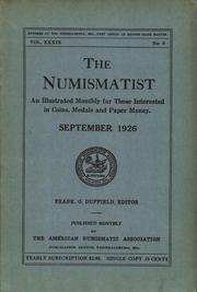 The Numismatist, September 1926
