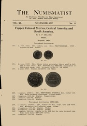 The Numismatist, November 1927