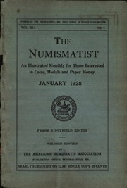 The Numismatist, January 1928