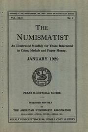 The Numismatist,  1929
