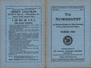 The Numismatist, March 1933