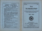 The Numismatist, May 1933