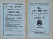 The Numismatist, October 1933