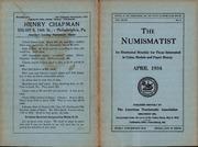 The Numismatist, April 1934