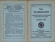 The Numismatist, August 1934