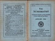 The Numismatist, January 1934