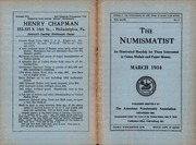 The Numismatist, March 1934
