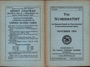 The Numismatist, November 1934