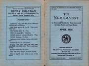 The Numismatist, April 1936