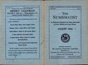 The Numismatist, August 1936