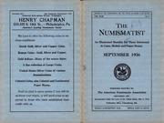 The Numismatist, September 1936