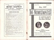 The Numismatist, May 1937