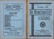 The Numismatist, November 1939