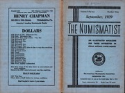 The Numismatist, September 1939