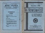 The Numismatist, December 1940
