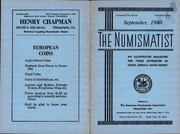 The Numismatist, September 1940