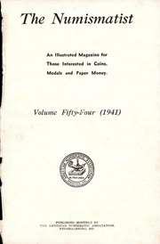 The Numismatist,  1941