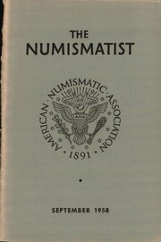 The Numismatist, September 1958