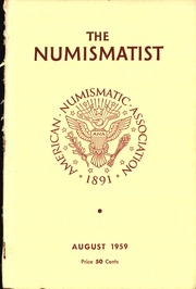 The Numismatist, August 1959