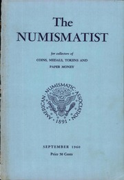 The Numismatist, September 1960