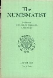 The Numismatist, August 1961