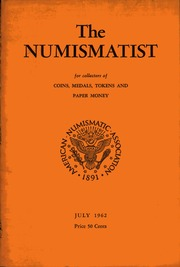 The Numismatist, July 1962