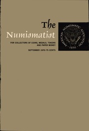 The Numismatist, September 1970