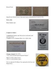 Numismatist Association Items