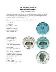 Numismatist Mirrors