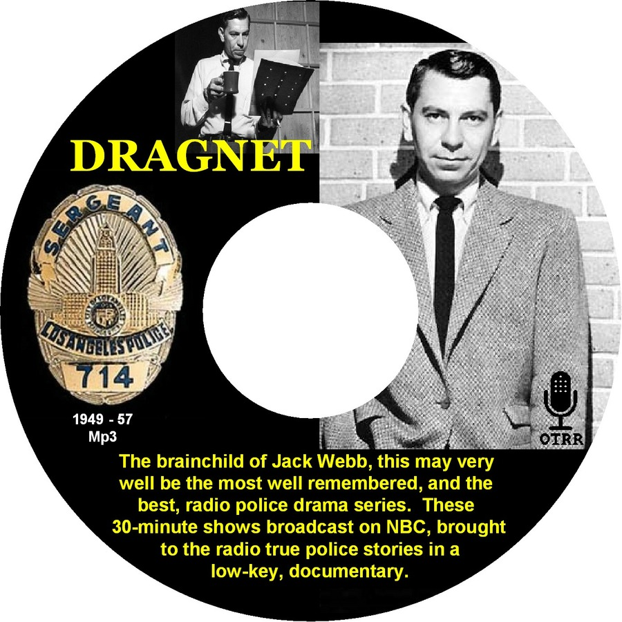 Dragnet Single Episodes Old Time Radio Researchers Group