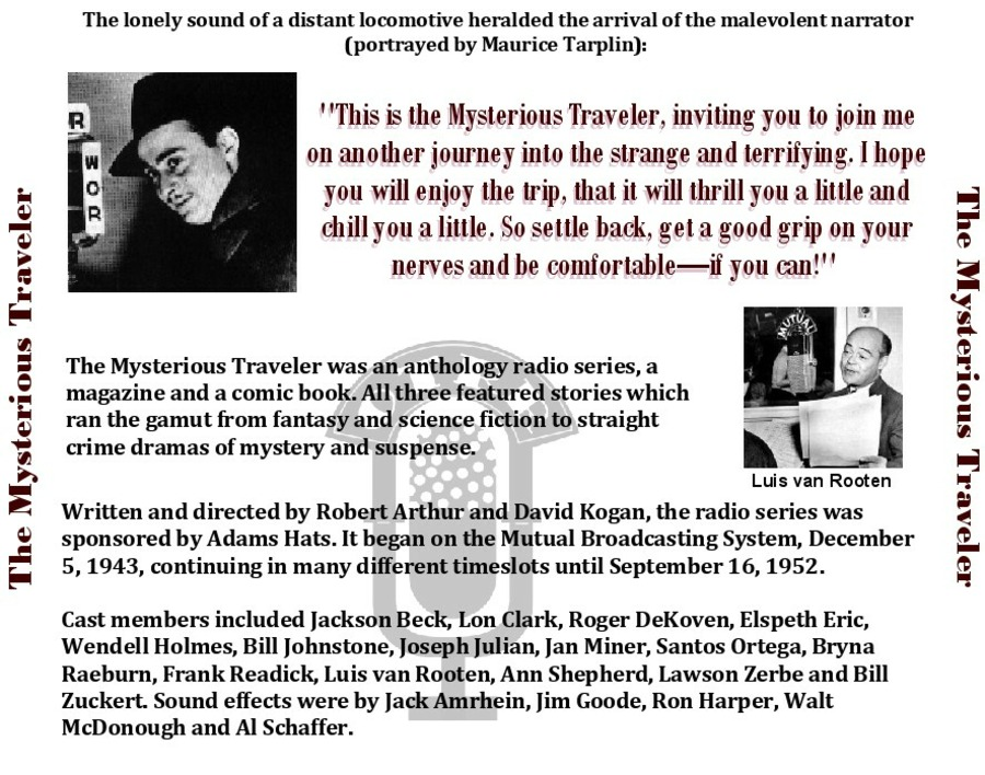 Mysterious Traveler - Single Episodes : Old Time Radio Researchers