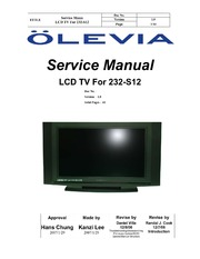 olevia tv manual user guide manual that easy to read u2022 rh wowomg co Olevia TV Remote Olevia TV Parts