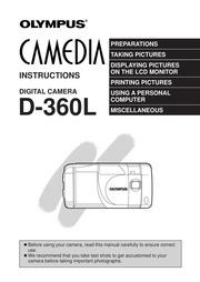 Olympus camedia digital camera d-360l manual loadfreequality.