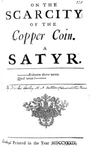 On the Scarcity of the Copper Coin