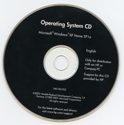 Operating System CD (Microsoft Windows XP Home SP1a) (340182