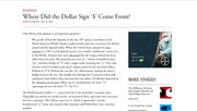 Getting to Know Eric P. Newman, Part 4: Origin of the Dollar Sign