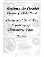 Ornamental Bank Note Engraving by Geometrical Lathe (part 1 of 2)