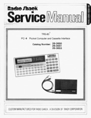 radio shack hardware manual pc 4 computer and cassette service rh archive org desktop computer service manual desktop computer service manual