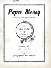 Paper Money (Summer 1962)