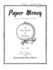 Paper Money (Fall 1962)
