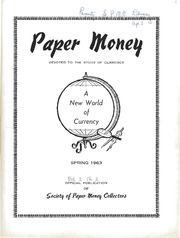 Paper Money (Spring 1963)