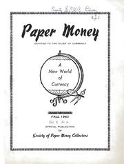 Paper Money (Fall 1963)