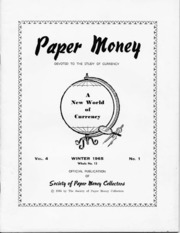 Paper Money (Winter 1965)
